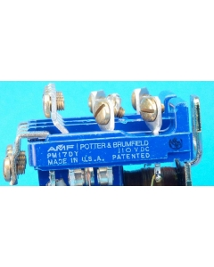 Potter & Brumfield - PM17AY-110VDC - Relay, DC. 4PDT 25A 110VDC.