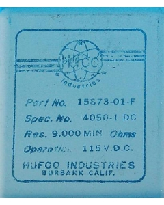 HUFCO - BURBANK - 15873-01-F - 115VDC 4PDT Hermetically sealed
