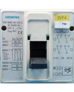 SIEMENS - 3VF4231-1DF41-7KA0 - 3-Ph 125A Adj Thermal Magnetic Circuit Breaker