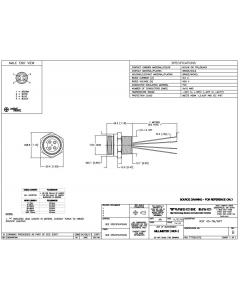 TURCK - RSF40-0.3M/NPT - Minifast 4-Pin Male Panel-mount Receptacle