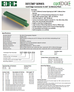 EDAC - 337-086-524-208 - Connector, PCB Edge. 43 Position / 86 Pin.