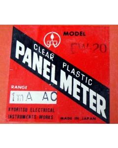 KYORITSU ELECTRICAL INSTRUMENT WORKS - 1348-2 - Meter, edgewise. 0-1mA AC.