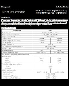 BC Components BEYSCHLAG - 5063JD6K340F12AF5 - Resistor, MF. 6.34K Ohm. Package of 10.