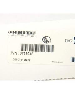 OHMITE - OY33GKE-B - Resistors, MOX. 3.3 Ohm 2Watt. Package of 10.