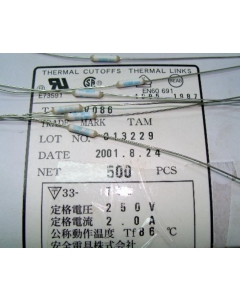 ANZEN DENGU CO. LTD - V086 - Fuse, thermal. 2Amp. Package of 10.