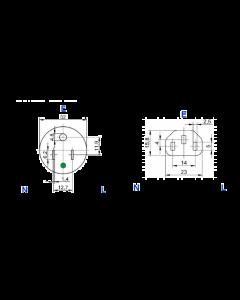 Feller GmbH  - 13VL - Cord. Flexible,  CE CSA Hospital Grade IEC, 18 AWG, 10 Amp. 3 Conductor, 9 Foot.