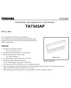 Toshiba - TA7343AP - IC, audio. Linear FM PLL MPX stereo-decoder.