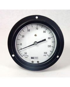 """Weiss Instruments - 4PGC-1-1/4BACK-30-0-150PSI - 30-In-Hg-zero-150PSI 5"""" Prssure Guage"""