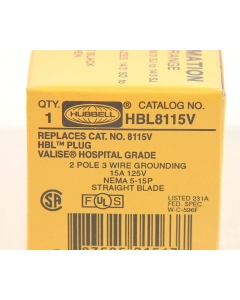 HUBBELL - HBL8115V - Connector, power. 2P3W.