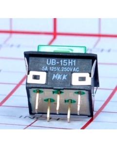 NKK - UB15KKW015F-FF - Switch, illuminated pushbutton.