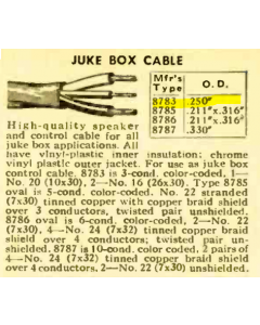 BELDEN WIRE - 8783 - Cable, multi-conductor. 3 Conductor. Juke Box Cable.