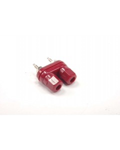 SPC Technology / SAMAR - 4-876-R - Connector, binding post. Dual 5-way binding post. Red.