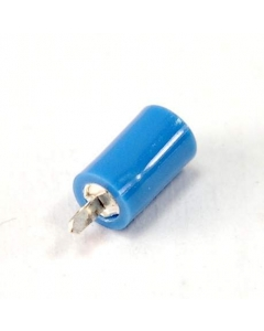 SPC / Voltrex - TJ-200-BL - Pin Jack, Blue vertical. Package of 100.