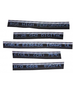 USA - A019 - Cable, coax, RG6/U 75 Ohm. Package of 100ft.