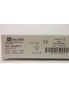 Cutler-Hammer - E57-18LU08-D - Switch, proximity. Out: NO. Range: 8mm.