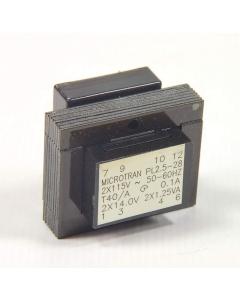 MICROTRAN - PL2.5-28 - Transformer Dual 14V 180mA PCB