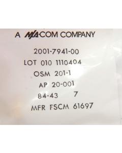 MA/COM - OSM201-1 - Connectors, SMA. Straight receptacle.