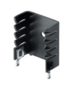 Thermalloy/Aavid - 593002B03400G - Hardware, heatsink. Twisted fin. For TO-220.