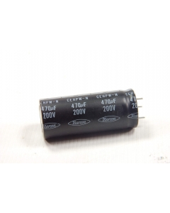 Unidentified MFG - CEHPW-N470UF200V - Capacitor, electrolytic. 470uF 200VDC.