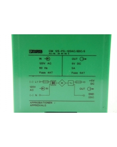 Phoenix Contacts - CM125-PS-120AC/5DC/5 - Power Supply, 5VDC @ 5A DIN mount