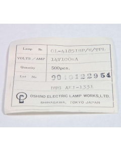 OSHINO - OL-4185 IEB/E/TPL - T1 1/4 Lamps & Bulbs. 14V 100mA. Package of 500.
