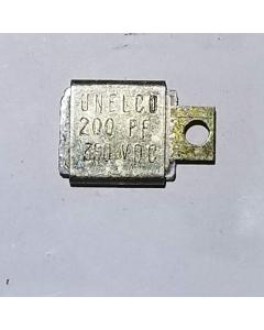 UNENCO - U00200R00GAB - RM202H201KR - CAP200pF/350V - Capacitor, Mica. 200pF 350V.
