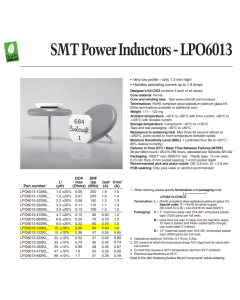 COILCRAFT - LPO6013-103KLC - Inductor, Ferrite. 10uH 1Amp. SMD.