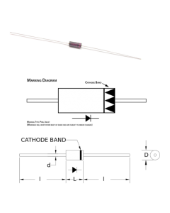 Dean Technology - HV COMPONENT ASSOC - HVTDR4 - Signal Diode. 4000V Fast Recovery.
