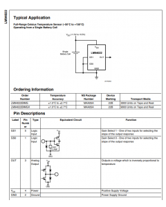 National Semiconductor Corp - LM94022BIMG - Sensor, temperature. -50 to 150 Deg C.