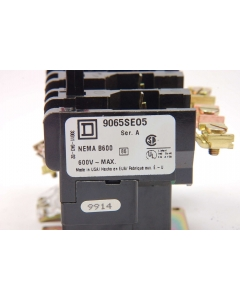 Square D - 9065SEO5 - Thermal Overload Relay. Three pole, 25A, 600VAC