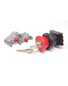 ABB - CBG-KPMK40R02 - Switch, key. 30mm Pushbutton.