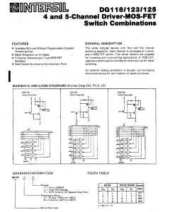 INTERSIL - DG118 - IC. MOSFET driver switch.