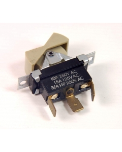 Cutler-Hammer / Eaton - 8134K21 - Switch, Rocker, Sealed Rockette.  SPDT 15Amp 125VAC.