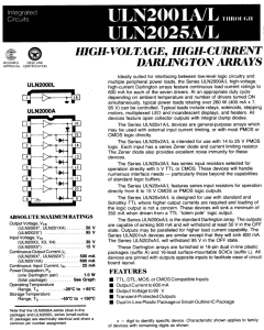 Sprague - ULN2024A - IC, Darlington Array. High Voltage, High Current, New