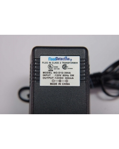 Unidentified MFG - D12-300A - Power Supply, AC adapter. 12VDC 300mA.