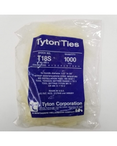 Hellerman Tyton - T18S - T18S9M4 - Hardware, Cable Ties. Package of 1K.