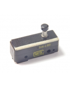 MICRO SWITCH - SW-186 - Switch, Micro, Push Button. SPST NC 15A 125V.