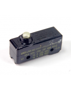 Honeywell Microswitch - YZ-7RDTC - Switch, Micro, Pushbutton Pin Plunger. SPST, 15 A, 125 VAC