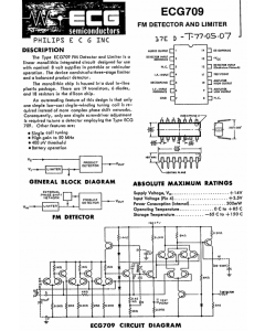 Philips - ECG709 - IC. FM and TV sound IF Amplifier, Detector and Limiter.