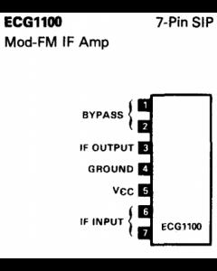 Philips - ECG1100 - IC, audio. FM IF amp.