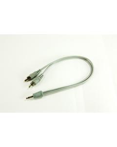 """Calrad - 35-529 - Connector, audio. """"Y"""" adaptor."""