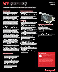 Honeywell/Microswitch - V7-2B17D8-207 - Switch, Micro, Roller. SPDT 11Amp 125V.