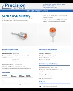 Precision Electronic Comp. PEC Canada - RV6NAYSD104A - Potentiometer. 100K Ohm 0.5W.