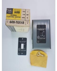 Allen Bradley - AB - 600-TQX48 - Switch, Motor. Key Switch.