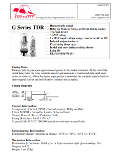 Amperite - 12NO30 - Relay, Thermal Time Delay. SPST NO 30 Seconds.