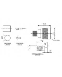 L-Com - ANM-1406 - Connector, coaxial RF. N Coaxial, 50 Ohm. New.