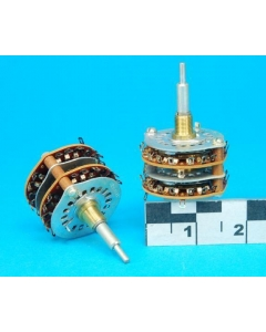OAK INDUSTRIES - 243881-LK2 - Switch, dual rotary. Contacts: 2pole-18pos .