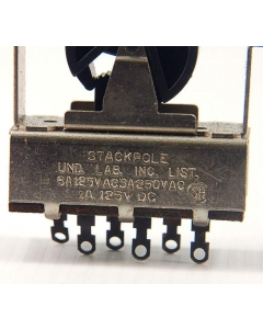 STACKPOLE - 3-196 - Switch, rocker. DPDT 6A 125V. Package of 5.