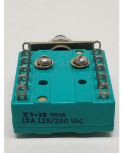 Unidentified MFG. - K3-23 - Push Button Switch, Momentary 4PDT, 15 Amp, 125/250 VAC, Panel Mount