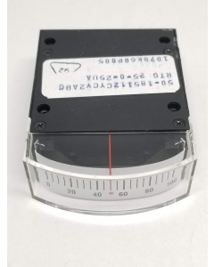 General Electric - 50-185112CYCY2ABC - DC Edgewise Meter. 25-0-25uA.